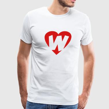 I love W - Heart W - Letter W - Men's Premium T-Shirt