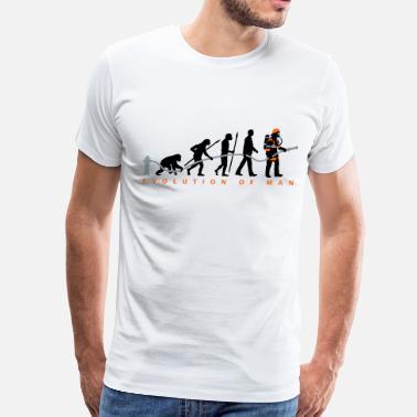 fb66624f1 Evolution Firefighter evolution of man firefighter - Men's Premium T-Shirt
