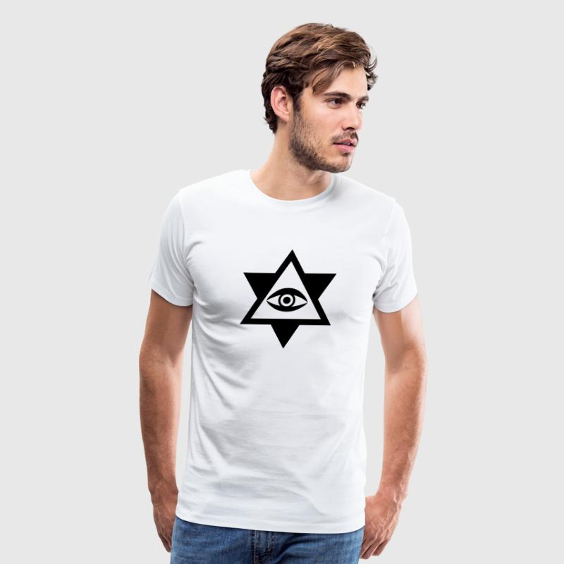 Eye of God Power Hipster Geek Icon Star 3c - Men's Premium T-Shirt