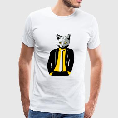 Cat in Business Suit - Men's Premium T-Shirt