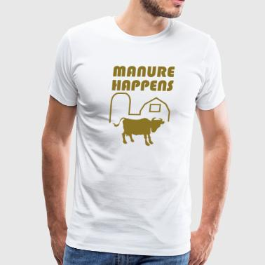 Manure Happens - Men's Premium T-Shirt