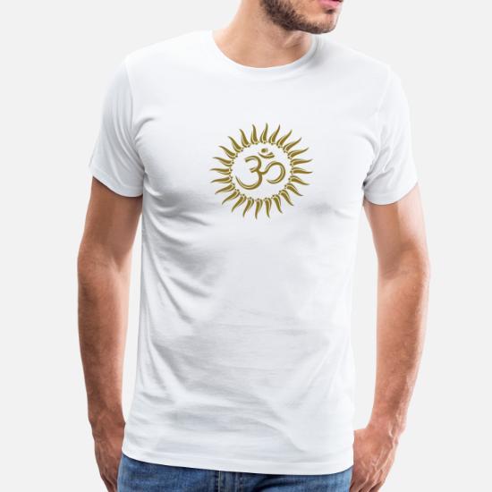 585501ba740 Om sun buddhism, yoga, spiritual, meditation, goa Men's Premium T ...
