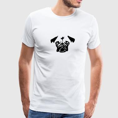 dog pug - Men's Premium T-Shirt