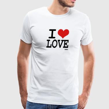 i love love by wam - Men's Premium T-Shirt