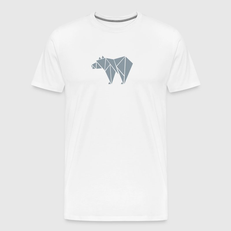 Low Poly Grizzly Bear - Men's Premium T-Shirt
