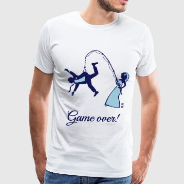 Game Over (Bride Fishing Husband) - Men's Premium T-Shirt
