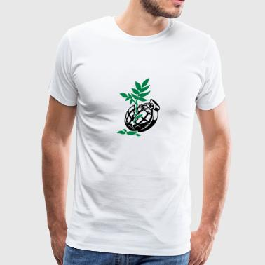 plant in broken grenade (2c) - Men's Premium T-Shirt