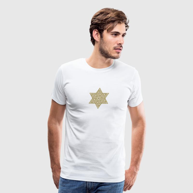 Merkaba - sacred geometry -  Flower of life, c, 2, - Men's Premium T-Shirt