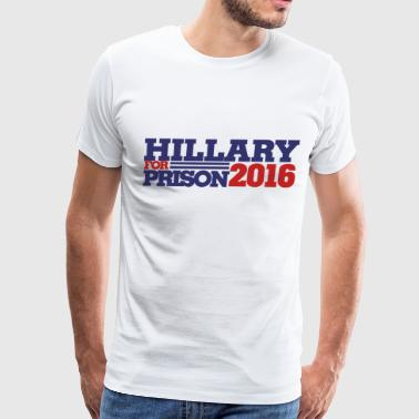Hillary for Prison 2016 anti-hillary - Men's Premium T-Shirt