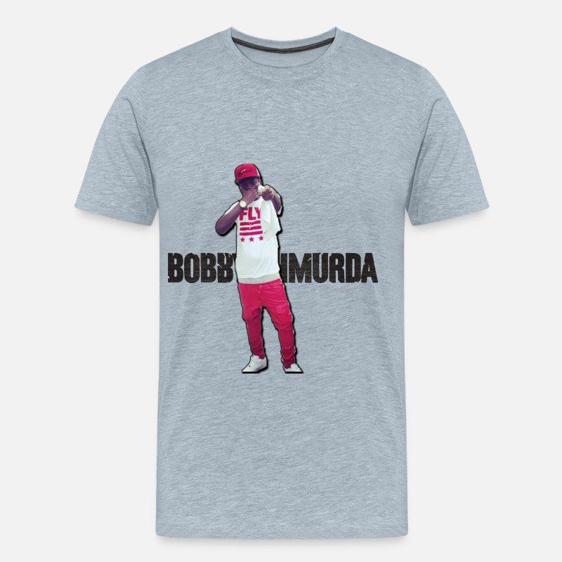 Bobby Shmurda T-Shirt Men's Premium T-Shirt - heather ice blue