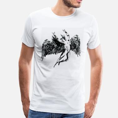 Led Zeppelin ICARUS THROWS THE HORNS - black oil - Men's Premium T-Shirt