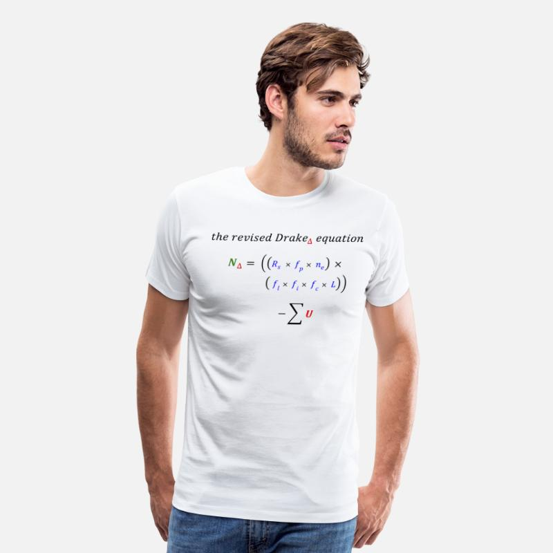Funny T-Shirts - modified Drake equation - Men's Premium T-Shirt white