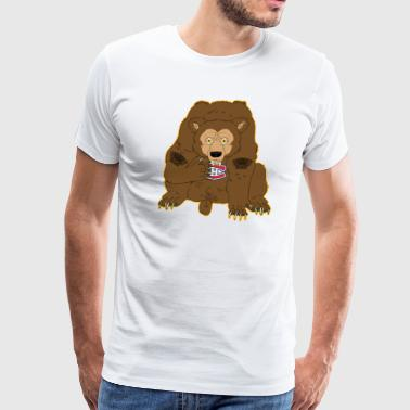 Bruin's Bear vs Canadien's Logo - Men's Premium T-Shirt