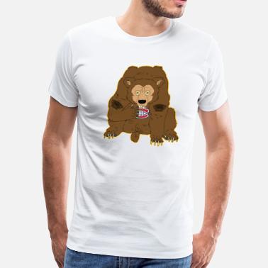50df8c21309 Bruins Bear Bruin  39 s Bear vs Canadien  39 s Logo -. Men s Premium T-Shirt.  Bruin s Bear vs Canadien s Logo. from  21.49