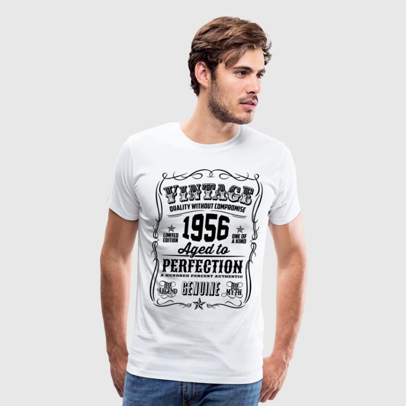 Vintage 1956 Aged to Perfection 60th Birthday gif - Men's Premium T-Shirt