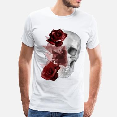 Skull Rose Skull and Roses - Men's Premium T-Shirt