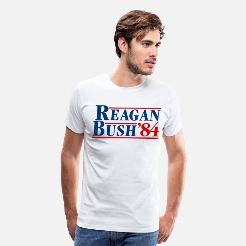 Conservative T-Shirts - Bush Reagan 84 Election - Men's Premium T-Shirt white