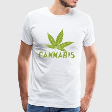 cannabis is love - Men's Premium T-Shirt