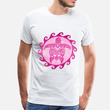 Pink Tribal Turtle - Men's Premium T-Shirt