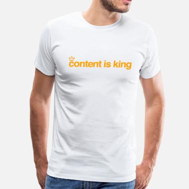 Content content is king - Men's Premium T-Shirt