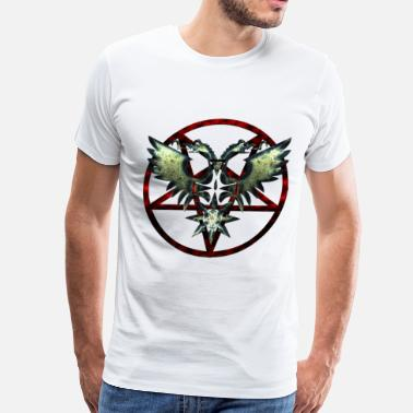 Corpse Paint Pentagram Double Eagle 1 - Men's Premium T-Shirt