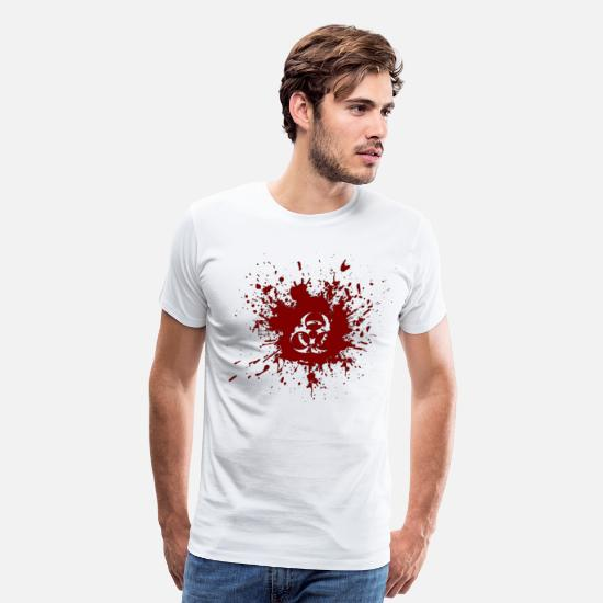 Bio Hazard T-Shirts - BLOOD HAZARD - Men's Premium T-Shirt white