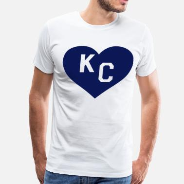 Kc Paul Rudd Heart KC Kansas - Men's Premium T-Shirt