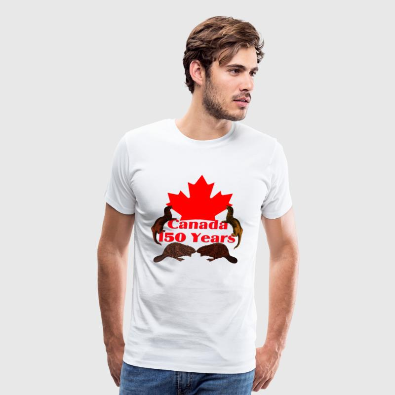 Canada 150 otter and beaver - Men's Premium T-Shirt