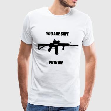 You Are Safe With Me - Men's Premium T-Shirt