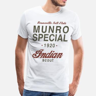 Specialized Bikes Munro Special 1920 Speed Record Indian Bike - Men's Premium T-Shirt