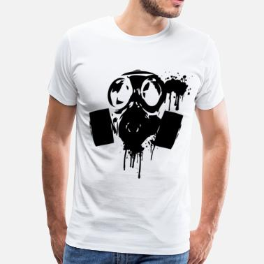 Nukes gas_mask_paint2 - Men's Premium T-Shirt