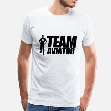 Aviation Satire TEAM AVIATOR White - Men's Premium T-Shirt