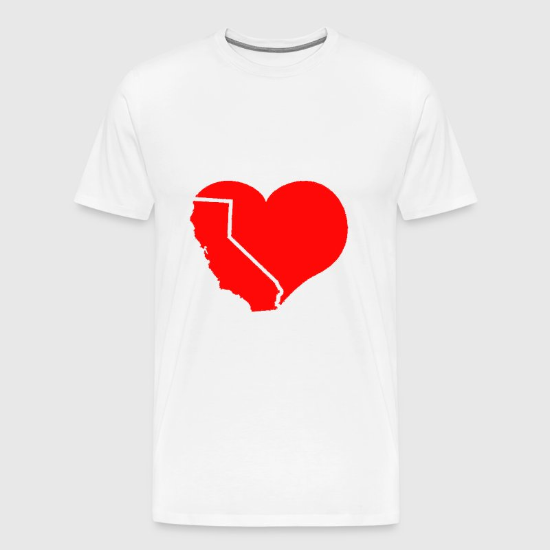 California Heart - Men's Premium T-Shirt