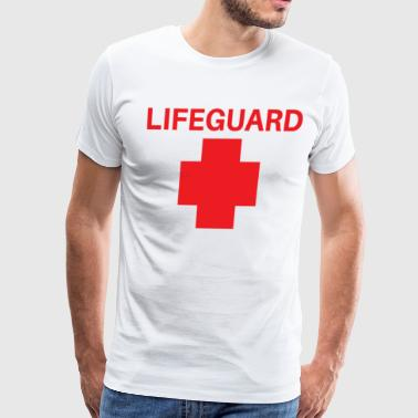 LIFEGUARD TEE, BAYWATCH, BEACH, - Men's Premium T-Shirt