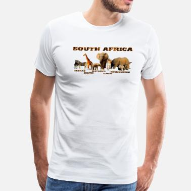 South African Word South African Wildlife Collage - Men's Premium T-Shirt