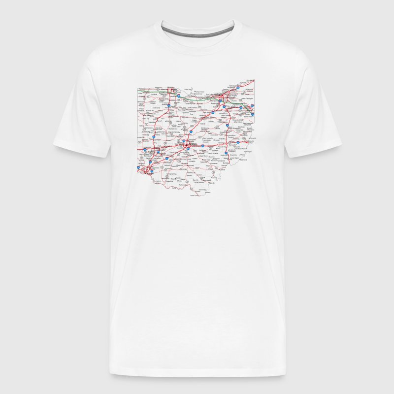 ohio, road map - Men's Premium T-Shirt