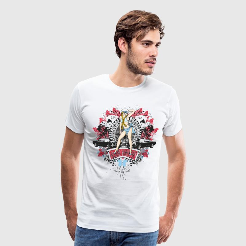 Pin Up Girl - Car Show No.01 - Men's Premium T-Shirt