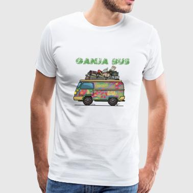 Ganja Bus Graphic T-shirt - Men's Premium T-Shirt