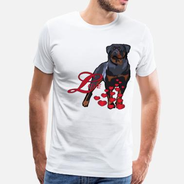 Rottweiler Love Love Is A Rottweiler - Men's Premium T-Shirt
