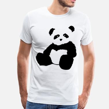 Panda panda plush - Men's Premium T-Shirt
