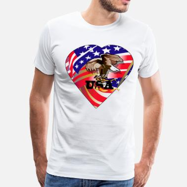 I Love Usa Love USA - Men's Premium T-Shirt