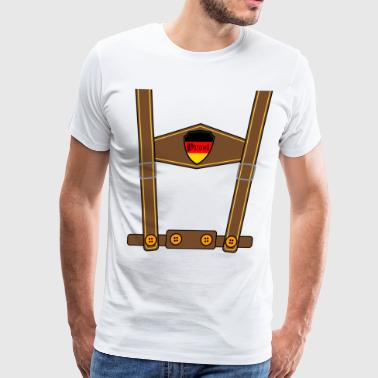 Oktoberfest German Lederhosen - Men's Premium T-Shirt