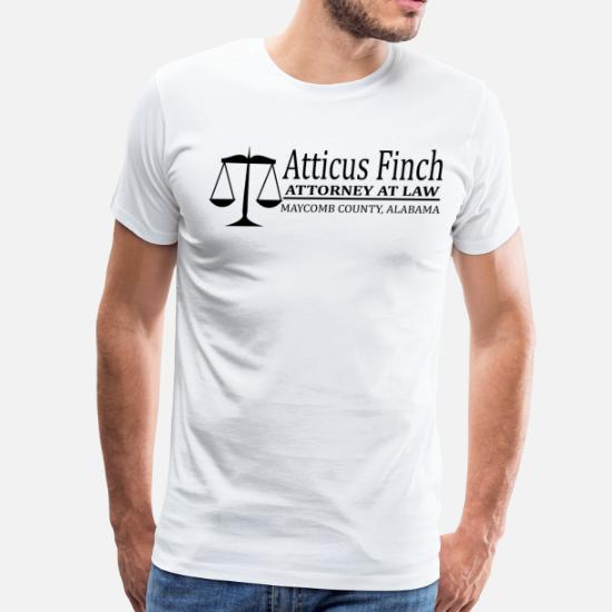 c98943b0 Mocking Bird T-Shirts - To Kill A Mockingbird - Atticus Finch - Men's  Premium