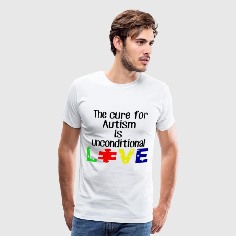 The cure for autism is unconditional love t-shirts - Men's Premium T-Shirt