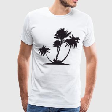 Coconut Palm Trees HD Design - Men's Premium T-Shirt