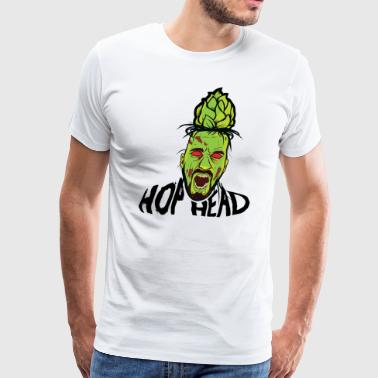 Hop Head Zombie T-Shirt - Men's Premium T-Shirt