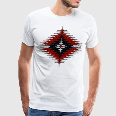 Seed Bead Native Beaded Sunburst 03 - Men's Premium T-Shirt