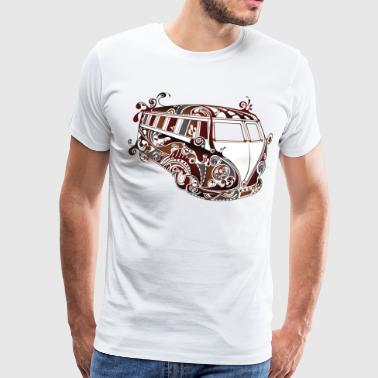 abstract retrobus - Men's Premium T-Shirt