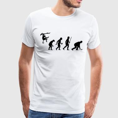 Evolution of Lawn Bowls - Men's Premium T-Shirt
