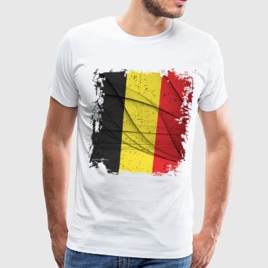Belgian Flag - Men's Premium T-Shirt